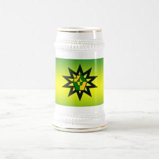 magdalena atómica amarilla verde jarra de cerveza