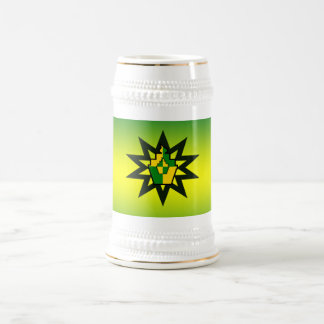 magdalena atómica amarilla verde taza de café