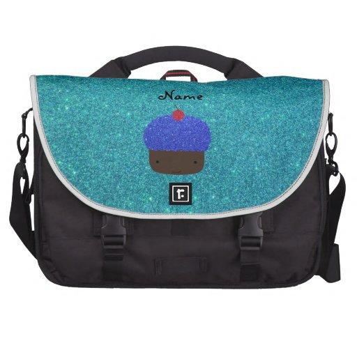 Magdalena azul conocida personalizada del brillo bolsas para portátil