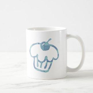 Magdalena azul taza básica blanca