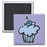 magdalena azul y púrpura de los lunares imán para frigorifico
