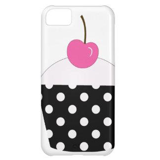 Magdalena blanco y negro del lunar con la cereza r funda para iPhone 5C