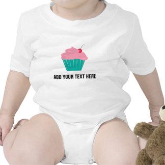 Magdalena con helar del rosa y texto adaptable trajes de bebé
