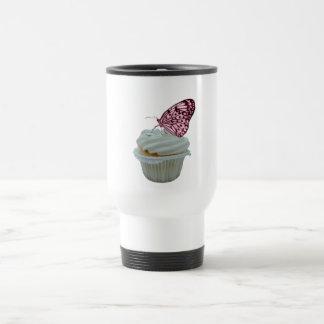 Magdalena con la mariposa rosada taza de viaje