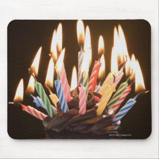 Magdalena con las velas del cumpleaños mousepad