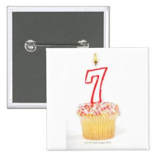 Magdalena con una vela numerada 7 del cumpleaños pins