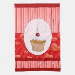 Magdalena, corazones y rayas dulces toallas de mano