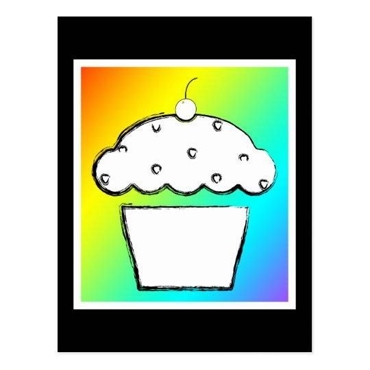 magdalena de la cereza del grunge del arco iris postales