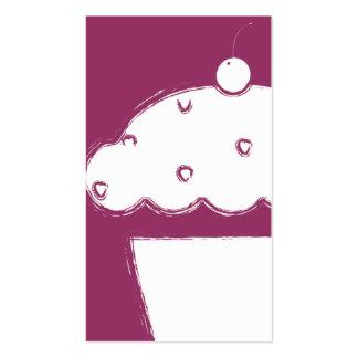 magdalena de la cereza del grunge plantillas de tarjetas personales