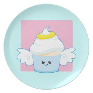Magdalena de la comida del ángel plato para fiesta