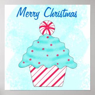 Magdalena de la hierbabuena de las Felices Navidad Poster