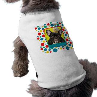 Magdalena de la invitación 2 años - dogo francés camiseta sin mangas para perro