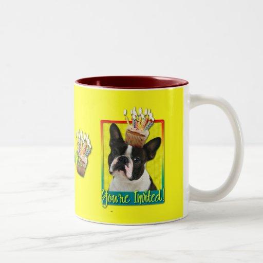 Magdalena de la invitación - Boston Terrier Taza Dos Tonos