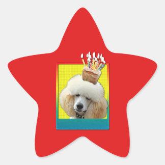 Magdalena de la invitación - caniche - albaricoque pegatina en forma de estrella
