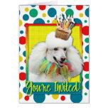 Magdalena de la invitación - caniche - blanco tarjeta de felicitación