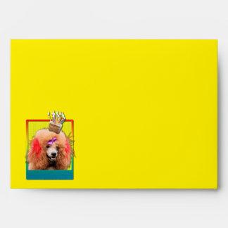 Magdalena de la invitación - caniche - rojo sobres