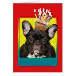 Magdalena de la invitación - dogo francés - trullo tarjeta de felicitación