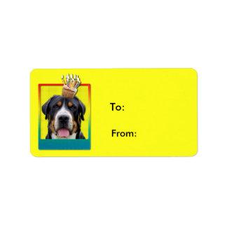 Magdalena de la invitación - mayor perro suizo de etiquetas de dirección