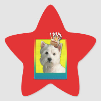 Magdalena de la invitación - montaña del oeste pegatina en forma de estrella