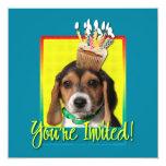 Magdalena de la invitación - perrito del beagle -