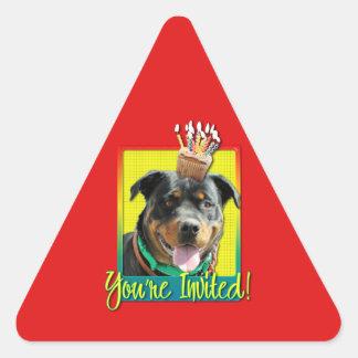 Magdalena de la invitación - Rottweiler - Pegatina Triangular