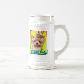Magdalena de la invitación - Yorkshire Terrier Jarra De Cerveza