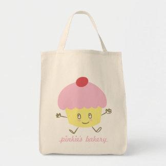 Magdalena de la panadería del meñique bolsa tela para la compra