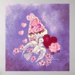 Magdalena de la tarjeta del día de San Valentín co Impresiones