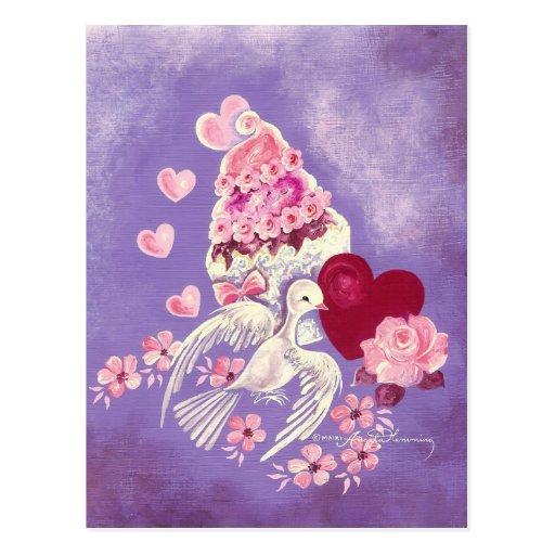 Magdalena de la tarjeta del día de San Valentín co Postales