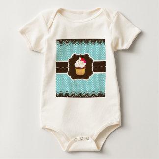 Magdalena de la tela escocesa de Blue//Brown Body Para Bebé