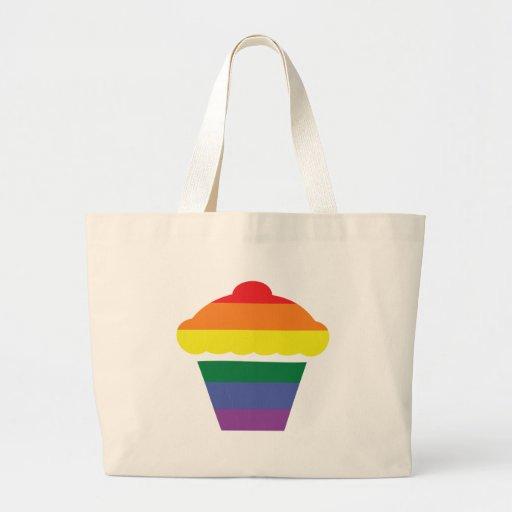 Magdalena del arco iris del orgullo gay bolsa tela grande