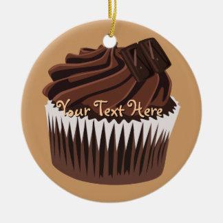 Magdalena del chocolate adorno navideño redondo de cerámica