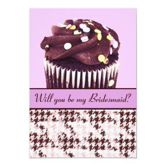 """Magdalena del chocolate usted será mi dama de invitación 5"""" x 7"""""""