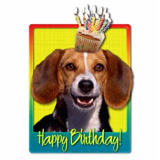 Magdalena del cumpleaños - beagle fotoescultura vertical