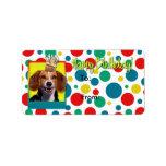 Magdalena del cumpleaños - beagle etiquetas de dirección