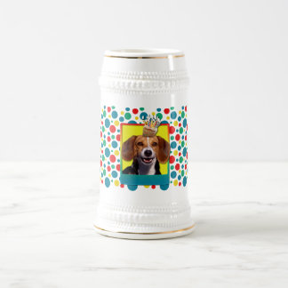 Magdalena del cumpleaños - beagle jarra de cerveza