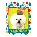 Magdalena del cumpleaños - Bichon Frise Postal