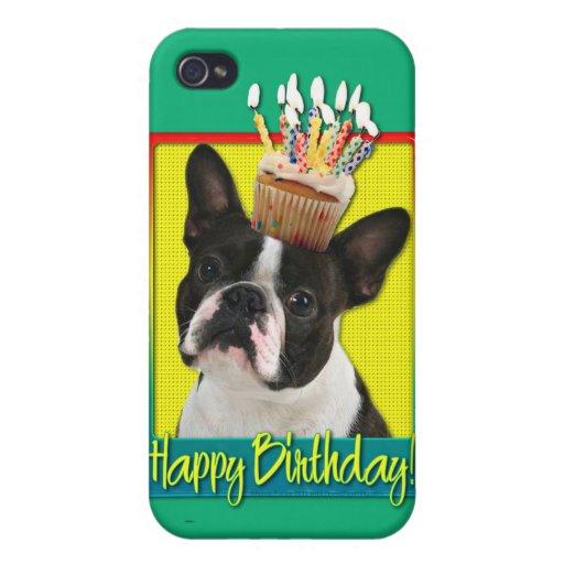 Magdalena del cumpleaños - Boston Terrier iPhone 4/4S Funda