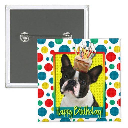Magdalena del cumpleaños - Boston Terrier Pins