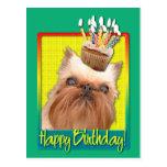 Magdalena del cumpleaños - Bruselas Griffon Postal