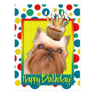 Magdalena del cumpleaños - Bruselas Griffon Tarjeta Postal