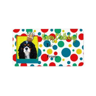 Magdalena del cumpleaños - caballero - tricolora etiquetas de dirección