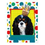 Magdalena del cumpleaños - caballero - tricolora postales