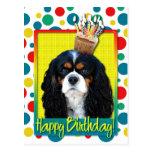 Magdalena del cumpleaños - caballero - tricolora tarjeta postal