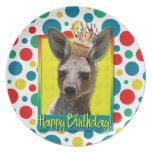 Magdalena del cumpleaños - canguro plato para fiesta