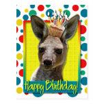 Magdalena del cumpleaños - canguro postal
