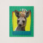 Magdalena del cumpleaños - canguro puzzles con fotos