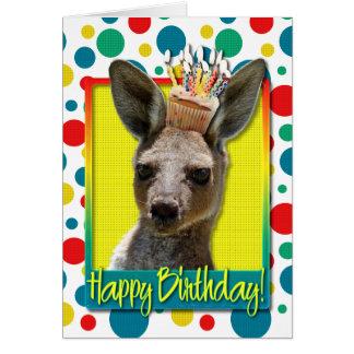 Magdalena del cumpleaños - canguro tarjeta de felicitación