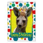 Magdalena del cumpleaños - canguro tarjetón