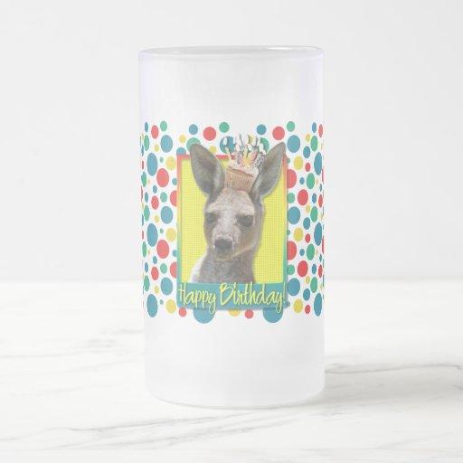 Magdalena del cumpleaños - canguro taza cristal mate
